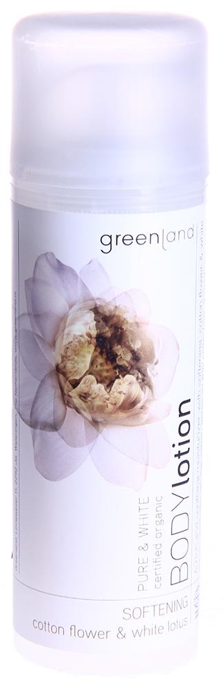 "GREENLAND Лосьон для тела ""Цветки хлопка-белый лотос"" / PURE & WHITE 150мл"