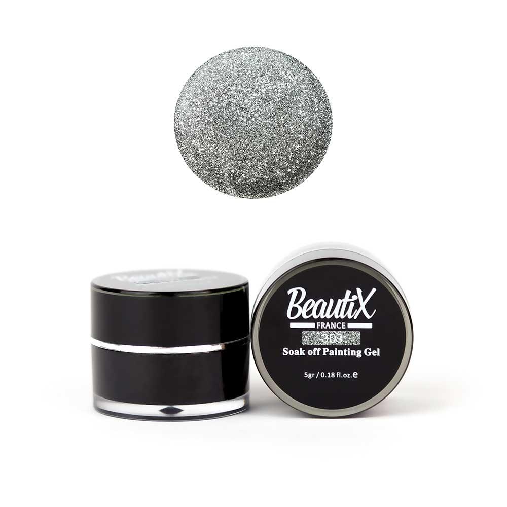 Купить BEAUTIX Глиттер крупнозернистый, 303 серебряный / Gel Painting Glitz 5 г