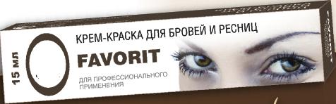 FARMAVITA Краска для бровей и ресниц, натуральный коричневый / FAVORIT 15мл