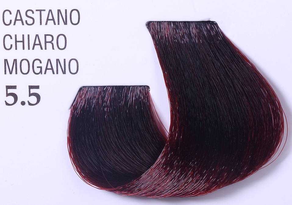BAREX 5.5 краска для волос / JOC COLOR 100мл~Краски<br>Оттенок: Светло-каштановый махагоновый. Стойкая перманентная крем-краска для волос на основе растительных экстрактов обеспечивает глубокое стойкое окрашивание и 100% окрашивание седых волос. Защищает структуру волоса по всей длине, придает волосам блеск и шелковистость, защищает от воздействия солнечных лучей. Кремообразная консистенция краски удобна в работе и хорошо распределяется по всей длине волос. Тюбик содержит 100 мл краски, рассчитанный на 2 процедуры окрашивания волос средней длины или на 4 процедуры тонирования&amp;nbsp; Способ применения:&amp;nbsp;Для полного окрашивания смешайте 50 мл (половину упаковки) крема краски Joc Color&amp;nbsp;с 75 мл соответствующего оксигента JOC Color Line. В результате&amp;nbsp; получится 125 мл продукта, способного полностью окрасить значительное количество волос. Оксигент JOC Color Line содержит особые вещества растительного происхождения, активизирующиеся в момент нанесения смеси, эти вещества способствуют глубокому восстановлению структуры волос, обеспечивая однородный, сияющий цвет. Примечание:&amp;nbsp;специальная формула крема краски JOC Color Line позволяет использовать его в разбавленном 1:1 виде, т.е. крем краска и окисляющая эмульсия смешиваются в равных пропорциях. Это усиливает мощность покрытия седых волос, делает более интенсивным выбранный нюанс, придавая волосу блеск. Выбор оксигента и время выдержки. Оксигент Окончательный результат Время воздействия &amp;nbsp;&amp;nbsp;Оксигент с эффектом блеска 3% для окрашивания ТОН в ТОН 20-25 мин &amp;nbsp;&amp;nbsp;Оксигент с эффектом блеска 6% для обесцвеченных волос для окрашивания и осветления на 1 тон 15-25 мин 35-40 мин &amp;nbsp;Оксигент с эффектом блеска 9%&amp;nbsp;&amp;nbsp; для окрашивания и осветления на 2 - 2,5 тона для выделения нюанса для работы с серией  Платина&amp;nbsp; 35-40 мин 35-40 мин 35-40 мин Оксигент с эффектом блеска 12% для осветления на 3 тона и выше для работы с Суперосветляющей серие