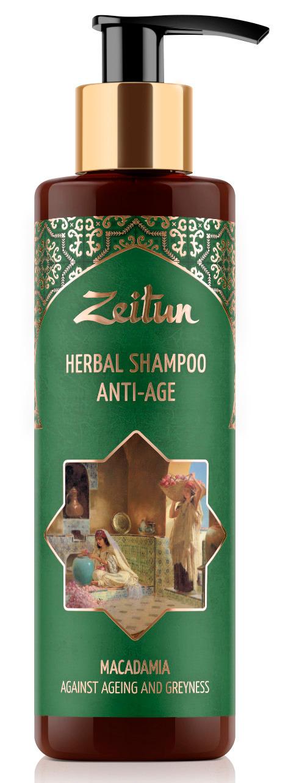 Купить ZEITUN Фито-шампунь против седины и старения волос 200 мл