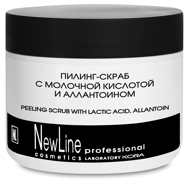 NEW LINE PROFESSIONAL Пилинг-скраб с молочной кислотой и алантаином 300мл