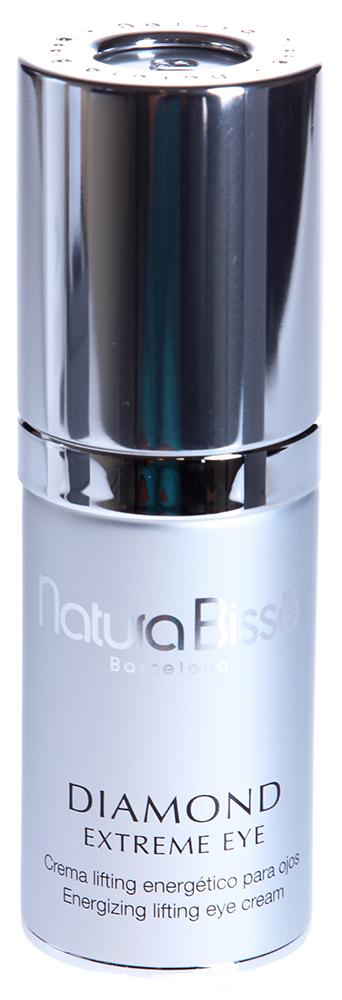 NATURA BISSE Крем-лифтинг энергетический для кожи вокруг глаз / Extreme Eye DIAMOND 25млКремы<br>Diamond Extreme Eye   настоящий эликсир молодости. Благодаря своему эксклюзивному составу крем насыщает клетки кожи энергией и эффективно устраняет возрастные изменения: разглаживает морщинки, уменьшает  гусиные лапки , устраняет дряблость, отеки и темные круги под глазами, стабилизирует уровень увлажненности и защищает нежную кожу вокруг глаз. Diamond Extreme Eye обладает выраженным лифтинг-эффектом, делает взгляд более ярким и выразительным. Уникальная технология ДНК-матрицы: ускоряет процесс кератинизации, восстанавливает естественные защитные функции кожи. Энергетический коктейль на основе Artemia Salina: восстанавливает энергетику клеток кожи. Урсоловая кислота и экстракт сладкого горошка: стимулируют процессы регенерации клеток кожи, восстанавливают ее упругость и эластичность. Эпидермальная липидная композиция: состоит из питательной смеси липидов, идентичных содержащимся в коже. Эти вещества, полученные из масел миндаля, дикого манго и масляного дерева, укрепляют естественный липидный барьер кожи и предотвращают потерю влаги. Композиция растительных экстрактов азиатской центеллы, конского каштана, иглицы, календулы и лакрицы: способствует улучшению микроциркуляции и лимфодренажа в области глаз, и, как следствие, уменьшению отеков и припухлостей. Чистая урсоловая кислота: мощный активный компонент с регенерирующими свойствами, которые помогают усиливать естественное сопротивление кожи разрушению волокон эластина в дерме. Олигоколлагеновый комплекс, содержащий медь, марганец, железо, магний, кальций и цинк: обеспечивает максимальное увлажнение и смягчение кожи, а также стимулирует синтез коллагена фибробластами. Экстракт эдельвейса: защищает от действия свободных радикалов и воздействия агрессивных факторов окружающей среды. Светоотражающий пигмент (золотой тон): визуально уменьшает проявления морщин и темных кругов под глазами. Активные ингредиенты (состав): Water