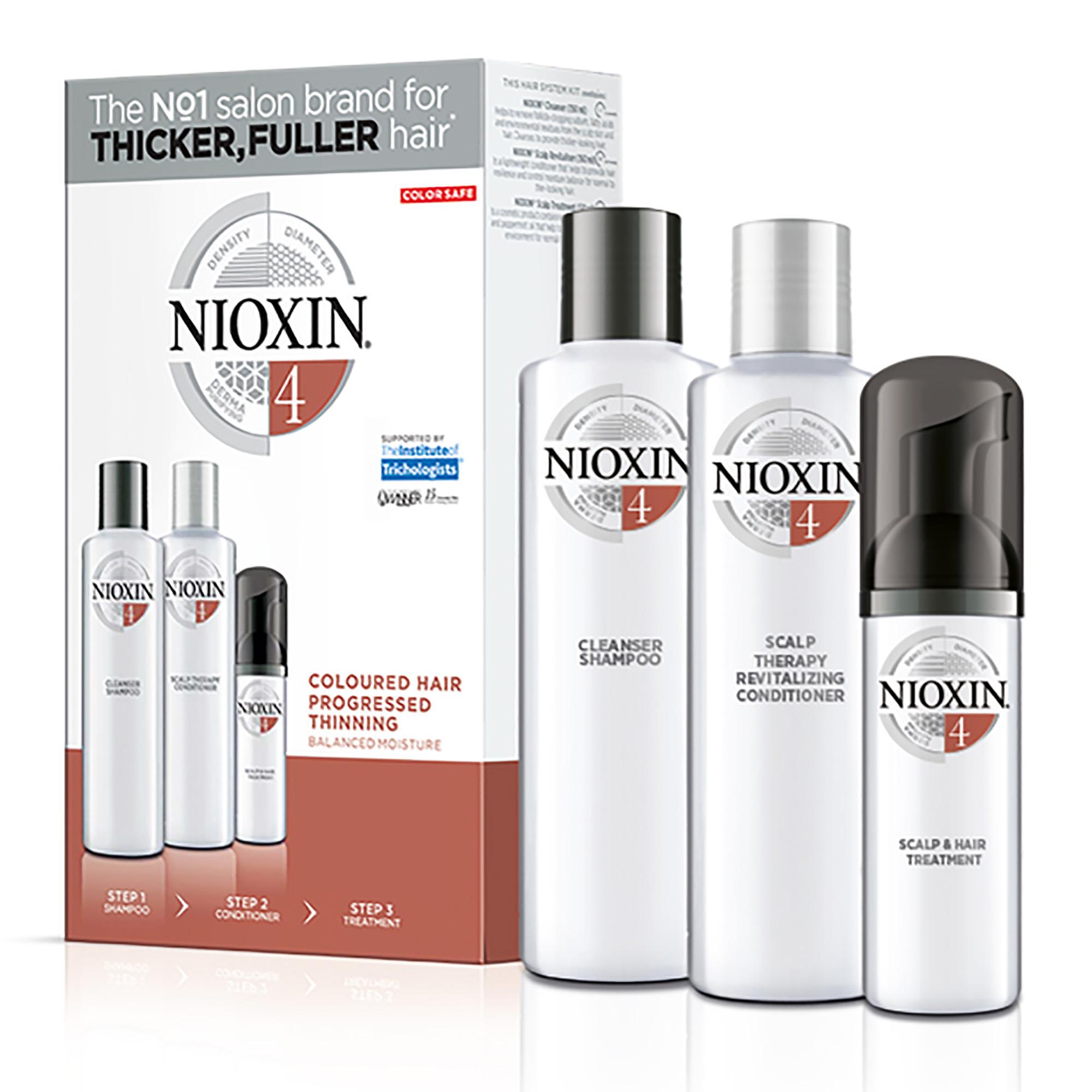 NIOXIN Набор для ухода за химически обработанными, заметно редеющими волосами Система 4