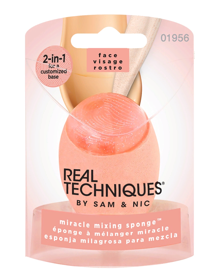 REAL TECHNIQUES Спонж с силиконовым краем / Miracle mixing sponge