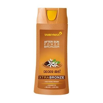 TANNYMAXX Средство с бронзатором после загара / Xtra Bronze After Sun Power Bronzer CLASSIC 250млЛосьоны<br>Специальный продукт для идеального закрепления и усиления загара. Молочко после загара обеспечивает полноценный уход за Вашей кожей после сеанса загара на солнце, в солярии и после душа. Подходит для всех типов кожи. Для лица и тела. Уникальная система MULTI DOUBLE BRONZER не только закрепит и сохранит загар максимально долгое время, но так же усилит эффект Вашего загара и придаст неповторимый золотистый оттенок. Тонизирует и максимально увлажняет кожу, препятствует образованию мелких морщин. Входящий в состав пантенол защитит кожу от ожогов, а экстракт мяты подарит Вашей коже легкий, освежающий холодок. Активный состав: Пантенол, экстракт мяты. Применение: Нанести на кожу после загара.<br><br>Объем: 250
