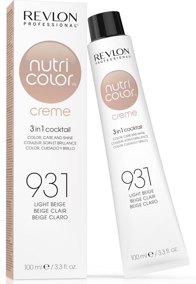REVLON Professional 931 краска 3 в 1 для волос, светло-бежевый / NUTRI COLOR CREME 100 мл - Краски