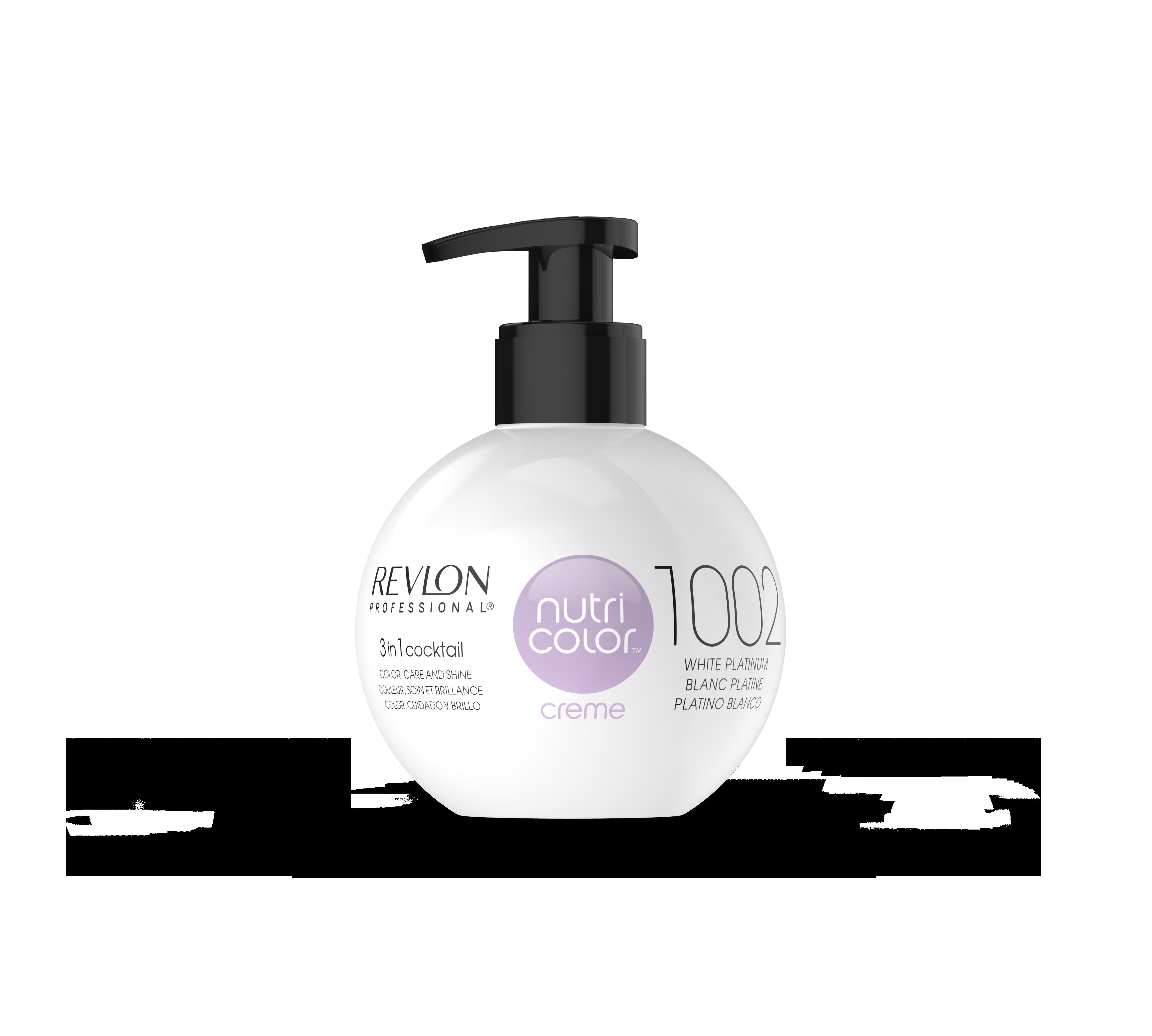 REVLON Professional 1002 краска 3 в 1 для волос, платина / NUTRI COLOR CREME 270 мл
