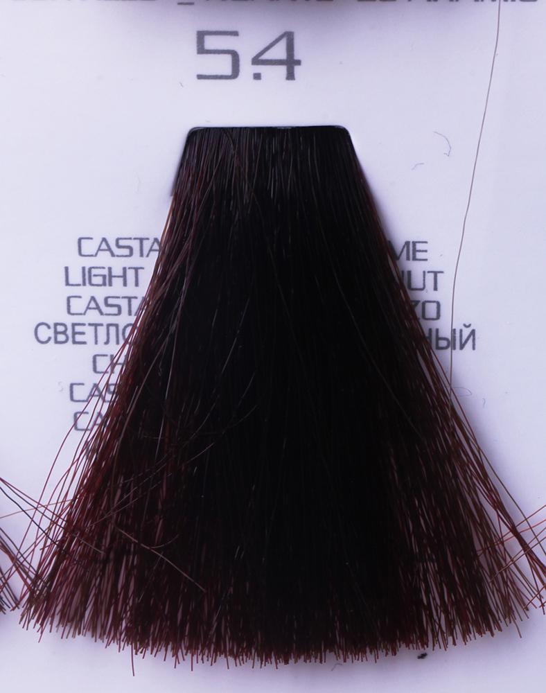 HAIR COMPANY 5.4 краска для волос / HAIR LIGHT CREMA COLORANTE 100млКраски<br>5.4 светло-каштановый медныйHair Light Crema Colorante   профессиональный перманентный краситель для волос, содержащий в своем составе натуральные ингредиенты и в особенности эксклюзивный мультивитаминный восстанавливающий комплекс. Минимальное количество аммиака позволяет максимально бережно относится к структуре волоса во время окрашивания. Содержит в себе растительные экстракты вытяжку из арахиса, лецитин, витамин А и Е, а так же витамин С который является природным консервантом цвета. Применение исключительно активных ингредиентов и пигментов высокого качества гарантируют получение однородного, насыщенного, интенсивного и искрящегося оттенка. Великолепно дает возможность на 100% закрасить даже стекловидную седину. Наличие 6-ти микстонов, а так же нейтрального бесцветного микстона, позволяет достигать получения цветов и оттенков. Способ применения: смешать Hair Light Crema Colorante с Hair Light Emulsione Ossidante в пропорции 1:1,5. Время воздействия 30-45 мин.<br><br>Вид средства для волос: Восстанавливающий<br>Класс косметики: Профессиональная