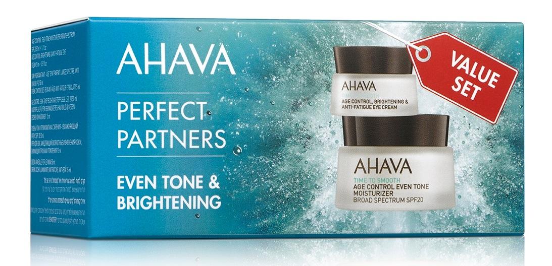 AHAVA Набор Ровный тон (увлажняющий крем SPF 20 50 мл + крем для век 15 мл) / Time To Smooth