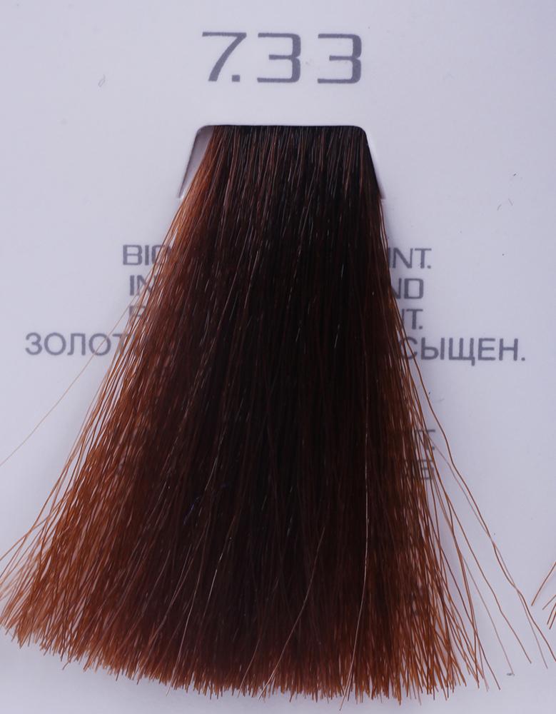 HAIR COMPANY 7.33 краска для волос / HAIR LIGHT CREMA COLORANTE 100млКраски<br>7.33 русый золотистый интенсивныйHair Light Crema Colorante   профессиональный перманентный краситель для волос, содержащий в своем составе натуральные ингредиенты и в особенности эксклюзивный мультивитаминный восстанавливающий комплекс. Минимальное количество аммиака позволяет максимально бережно относится к структуре волоса во время окрашивания. Содержит в себе растительные экстракты вытяжку из арахиса, лецитин, витамин А и Е, а так же витамин С который является природным консервантом цвета. Применение исключительно активных ингредиентов и пигментов высокого качества гарантируют получение однородного, насыщенного, интенсивного и искрящегося оттенка. Великолепно дает возможность на 100% закрасить даже стекловидную седину. Наличие 6-ти микстонов, а так же нейтрального бесцветного микстона, позволяет достигать получения цветов и оттенков. Способ применения: смешать Hair Light Crema Colorante с Hair Light Emulsione Ossidante в пропорции 1:1,5. Время воздействия 30-45 мин.<br><br>Вид средства для волос: Восстанавливающий<br>Класс косметики: Профессиональная