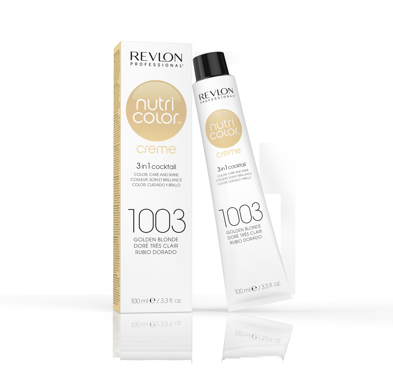 Купить REVLON Professional 1003 краска 3 в 1 для волос, очень светлый золотой / NUTRI COLOR CREME 100 мл
