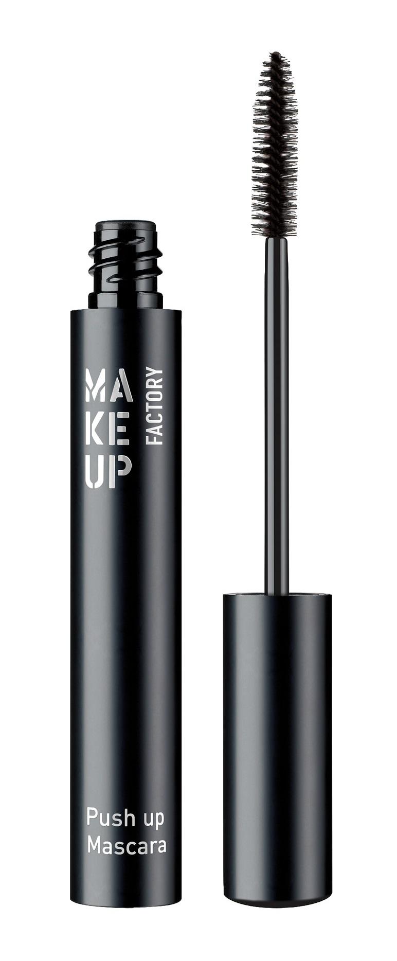 Купить MAKE UP FACTORY Тушь с эффектом увеличения для ресниц, черный / Push Up Mascara, без упаковки 9 мл
