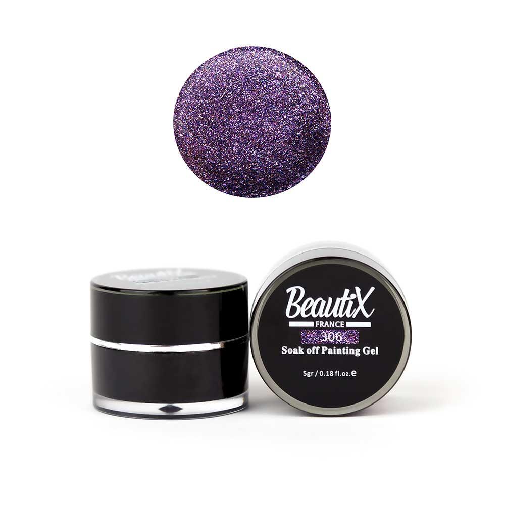 BEAUTIX Глиттер крупнозернистый, 306 фиолетовый / Gel Painting Glitz 5 г фото