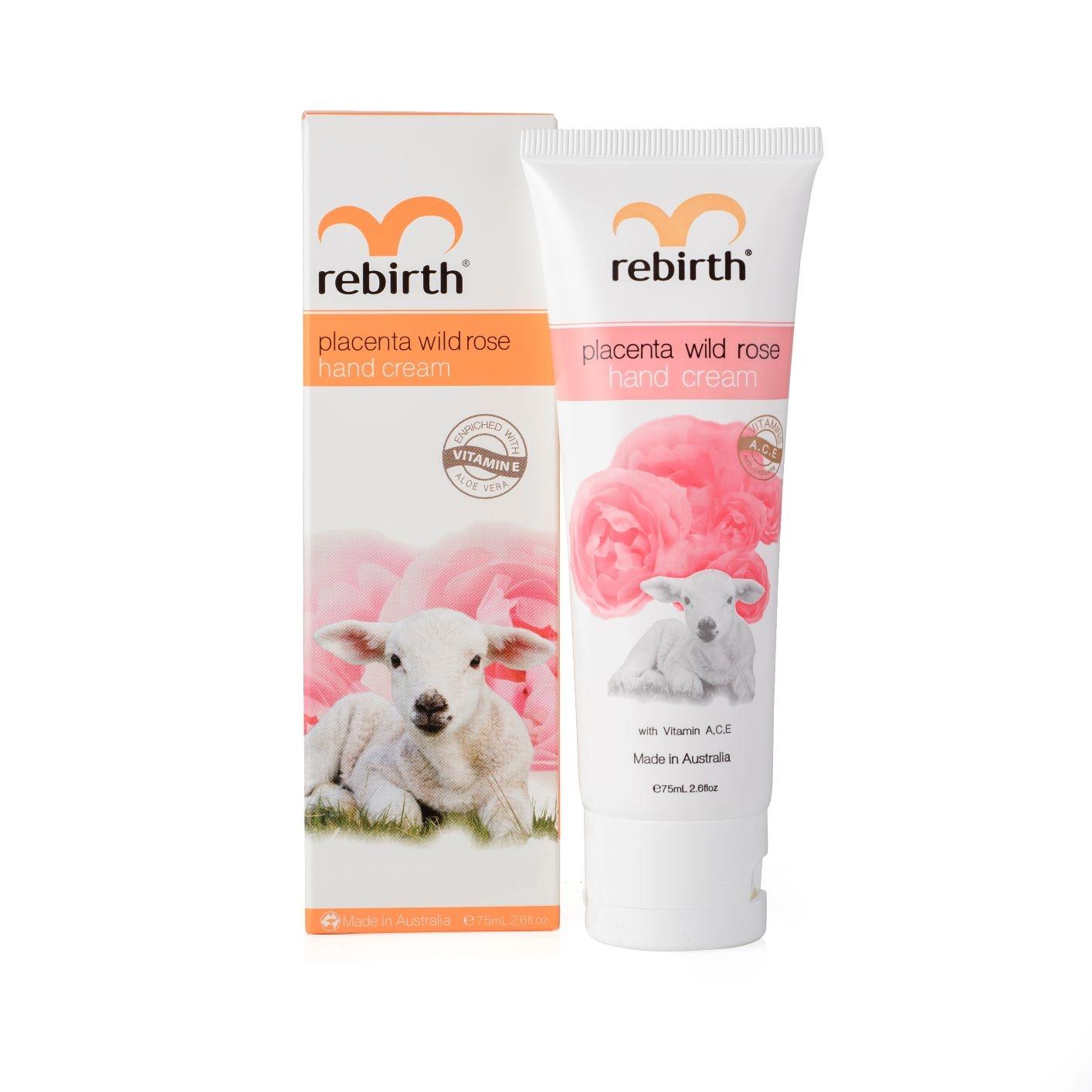 REBIRTH Крем для рук с экстрактом плаценты и маслом розы / PLACENTA WILD ROSE HAND CREAM 75 мл фото