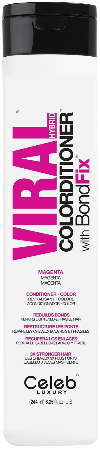 CELEB LUXURY Кондиционер тонирующий, ярко-розовый / Viral Magenta Colorditioner 244 мл фото