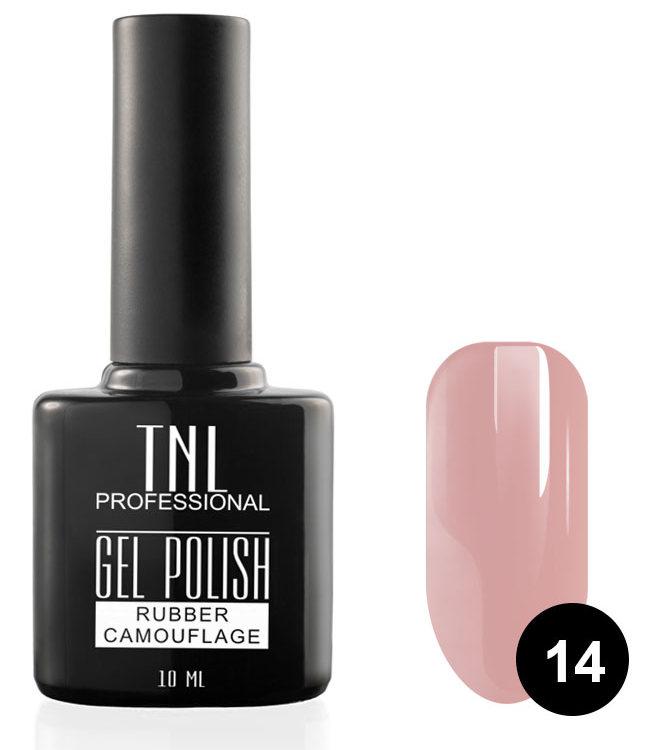 Купить TNL PROFESSIONAL 14 гель-лак камуфлирующий для ногтей / rubber camouflage 10 мл, Розовые