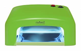 RuNail Прибор ультрафиолетового излучения 36 Вт GL-515, зеленый runail прибор led uv излучения 24вт светло розовый