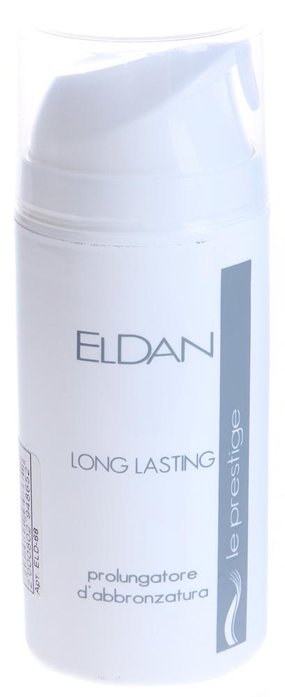 ELDAN Крем Длительный загар / LE PRESTIGE 100млКремы<br>Тип кожи: пигментированная, для всех типов кожи Действие: Легкий гель, обеспечивающий оптимальный уход за кожей во время и после нахождения на солнце. Восстанавливает травмированную ультрафиолетовыми лучами кожу лица и тела, препятствует образованию пигментных пятен. Обеспечивает ровный и красивый загар. Прекрасно увлажняет, защищает кожу от ожогов и насыщает ее витаминами. Активные ингредиенты: Аллантоин, ирландский мох, пантенол, гидролизованный растительный протеин, рибофлавин. Способ применения: Наносить крем на чистую кожу лица и тела, до во время и после каждого пребывания на солнце.<br><br>Вид средства для лица: Легкий<br>Назначение: Пигментация