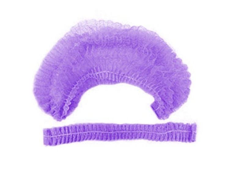 Купить IGROBEAUTY Шапочка Шарлотта НМ, одинарная резинка, цвет фиолетовый 100 шт