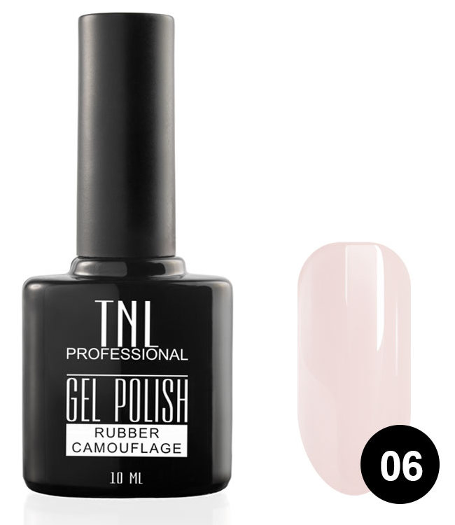TNL PROFESSIONAL 06 гель-лак камуфлирующий для ногтей / rubber camouflage 10 мл фото