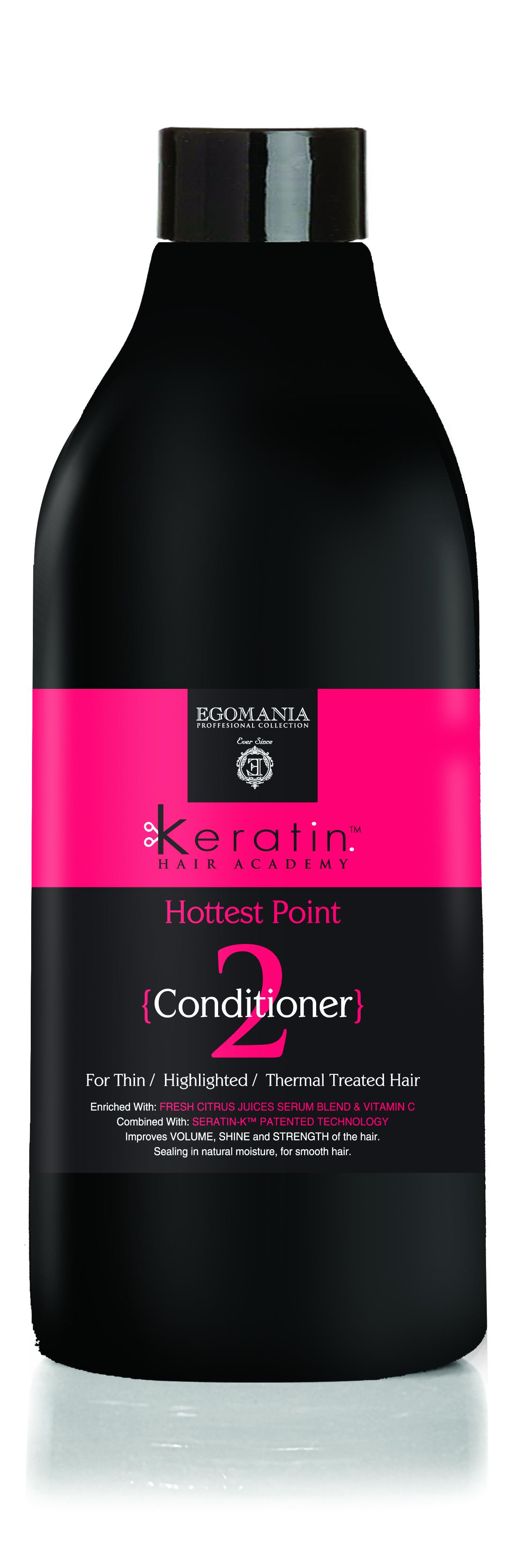 EGOMANIA Кондиционер для тонких, мелированных, химически завитых волос На пике красоты! / KERATIN 1000мл
