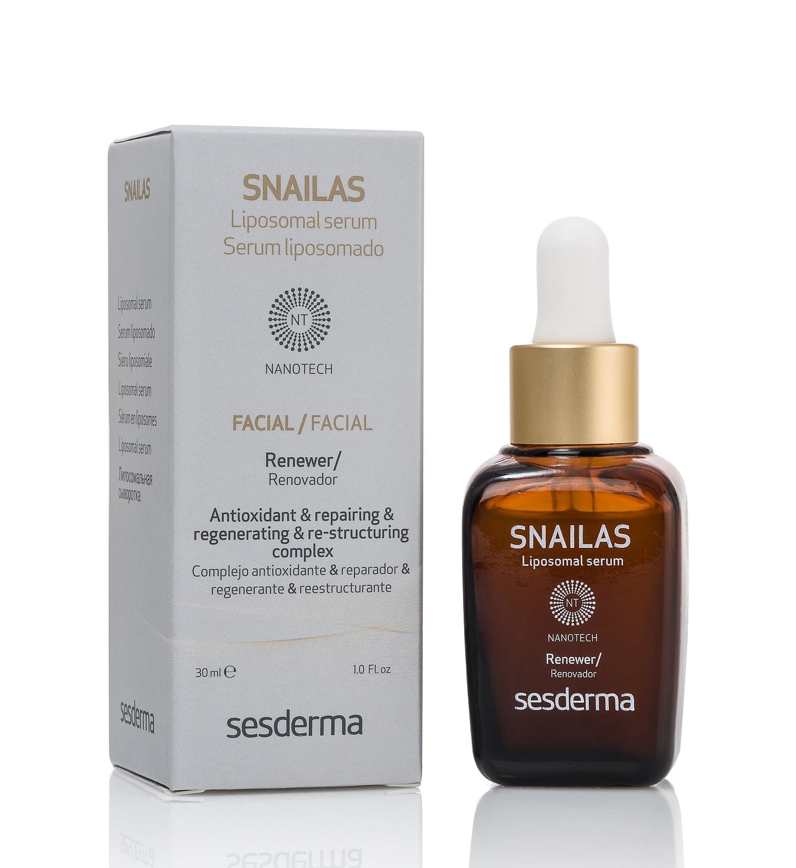 Купить SESDERMA Сыворотка липосомальная восстанавливающая для лица / SNAILAS Liposomal serum facial renewer 30 мл