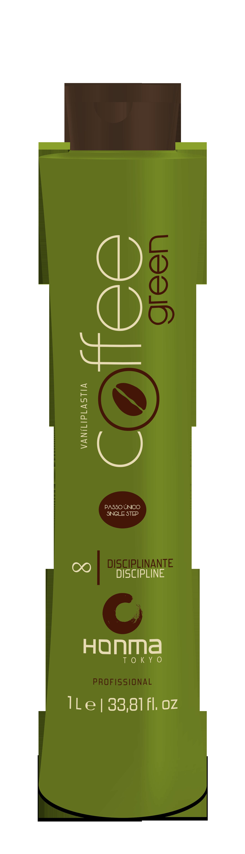 HONMA TOKYO Система био-протеиновая для выпрямления волос всех типов, одношаговое аминокислотное / Coffee Green 1000 мл - Кератин