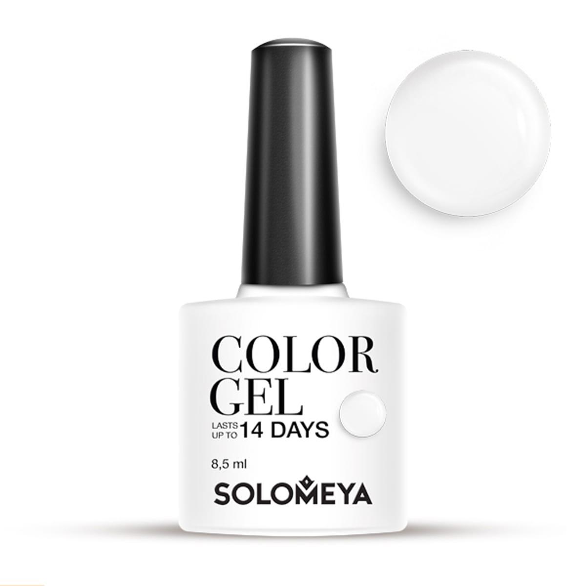 Купить SOLOMEYA Гель-лак для ногтей SCG154 Молоко / Color Gel Milk 8, 5 мл, Белые