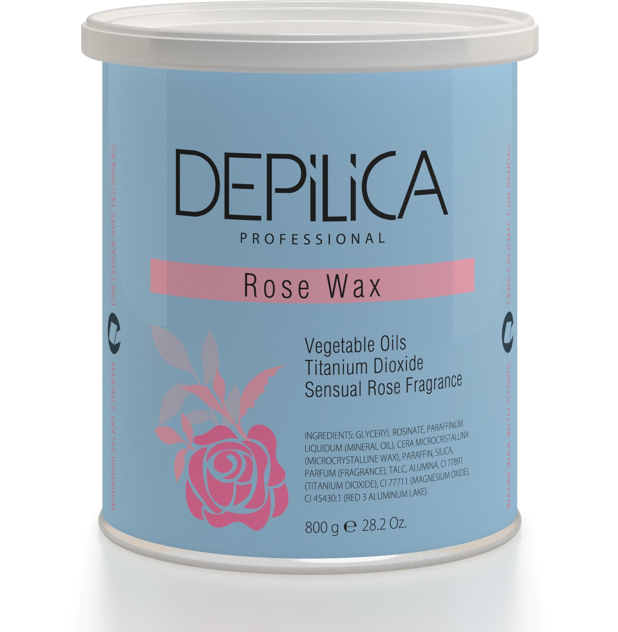 DEPILICA PROFESSIONAL Воск теплый Розовый / Rose Warm Wax 800грВоски<br>Содержит комплекс растительных масел и диоксид титана. Способствует уменьшению покраснений и неприятных ощущений во время процедуры, смягчает кожу. Обладает легкой кремовой текстурой и чувственным ароматом розы. Обеспечивает деликатный уход за кожей. Универсальные картриджи воска подходят для всех стандартных нагревателей. Они оснащены роликом-аппликатором что очень удобно для быстрого и чистого нанесения.<br>