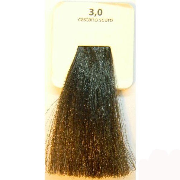 KAARAL 3.0 краска для волос / Sense COLOURS 100млКраски<br>3.0 - Темно-каштановый Перманентные красители. Классический перманентный краситель бизнес класса. Обладает высокой покрывающей способностью. Содержит алоэ вера, оказывающее мощное увлажняющее действие, кокосовое масло для дополнительной защиты волос и кожи головы от агрессивного воздействия химических агентов красителя и провитамин В5 для поддержания внутренней структуры волоса. При соблюдении правильной технологии окрашивания гарантировано 100% окрашивание седых волос. Палитра включает 93 классических оттенка. Способ применения: Приготовление: смешивается с окислителем OXI Plus 6, 10, 20, 30 или 40 Vol в пропорции 1:1 (60 г красителя + 60 г окислителя). Суперосветляющие оттенки смешиваются с окислителями OXI Plus 40 Vol в пропорции 1:2. Для тонирования волос краситель используется с окислителем OXI Plus 6Vol в различных пропорциях в зависимости от желаемого результата. Нанесение: провести тест на чувствительность. Для предотвращения окрашивания кожи при работе с темными оттенками перед нанесением красителя обработать краевую линию роста волос защитным кремом Вaco. ПЕРВИЧНОЕ ОКРАШИВАНИЕ Нанести краситель сначала по длине волос и на кончики, отступив 1-2 см от прикорневой части волос, затем нанести состав на прикорневую часть. ВТОРИЧНОЕ ОКРАШИВАНИЕ Нанести состав сначала на прикорневую часть волос. Затем для обновления цвета ранее окрашенных волос нанести безаммиачный краситель Easy Soft. Время выдержки: 35 минут. Корректоры Sense. Используются для коррекции цвета, усиления яркости оттенков, создания новых цветовых нюансов, а также для нейтрализации нежелательных оттенков по законам хроматического круга. Содержат аммиак и могут использоваться самостоятельно. Оттенки: T-AG - серебристо-серый, T-M - фиолетовый, T-B - синий, T-RO - красный, T-D - золотистый, 0.00 - нейтральный. Способ применения: для усиления или коррекции цвета волос от 2 до 6 уровней цвета корректоры добавляются в краситель по Правилу пятнадца
