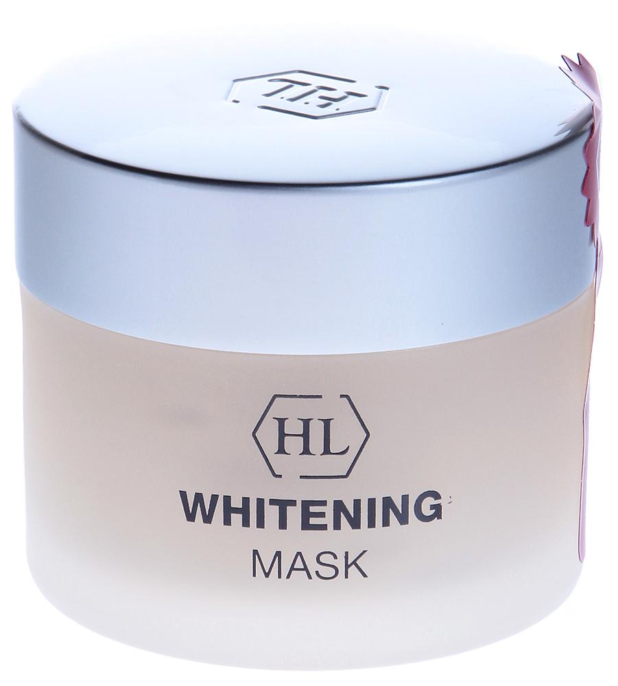 HOLY LAND Маска отбеливающая / Mask WHITENING 50млМаски<br>Отбеливающая маска. Применяется когда необходимо не только выравнивание цвета кожи, но и мягкий осветляющий эффект, например, если кожа лица отличается по цвету от кожи шеи, или после пилинга для предотвращения формирования посттравматической гиперпигментации, а также, если загар лег неровно. Мягкое осветляющее действие. Выравнивание цвета лица. Активные ингредиенты: Каолин, диоксид титана, серебро, арбутин, койевая кислота, а также: Масло герани восстанавливает чувствительную, повреждённую, сухую кожу, улучшает регенерацию клеток. Стимулирует лимфообращение и выведение токсинов. Магний повышает жизнеспособность клеток и имеет огромное значение как антистрессовый минерал (при недостатке магния ускоряется процесс старения кожи); магний снимает воспаление, способствует активности клеток кожи. Сквален - природный ненасыщенный углеводород, входит в состав липидной мантии кожи. Обладает смягчающими свойствами, поддерживает естественный уровень влаги и липидов. Снимает шелушение и смягчает кожу, повышая её эластичность. Аллантоин смягчает и успокаивает кожу, устраняет шелушение, стимулирует обновление клеток эпидермиса. Подавляет рост бактерий, ускоряет регенеративные процессы и заживление ран, обладает кератолитическим и легким обезболивающим действием. Способ применения: Нанести маску тонким слоем и распределить массажными движениями по лицу, за исключением области век. Смыть водой через 10-15 мин.<br><br>Объем: 50<br>Вид средства для лица: Отбеливающий