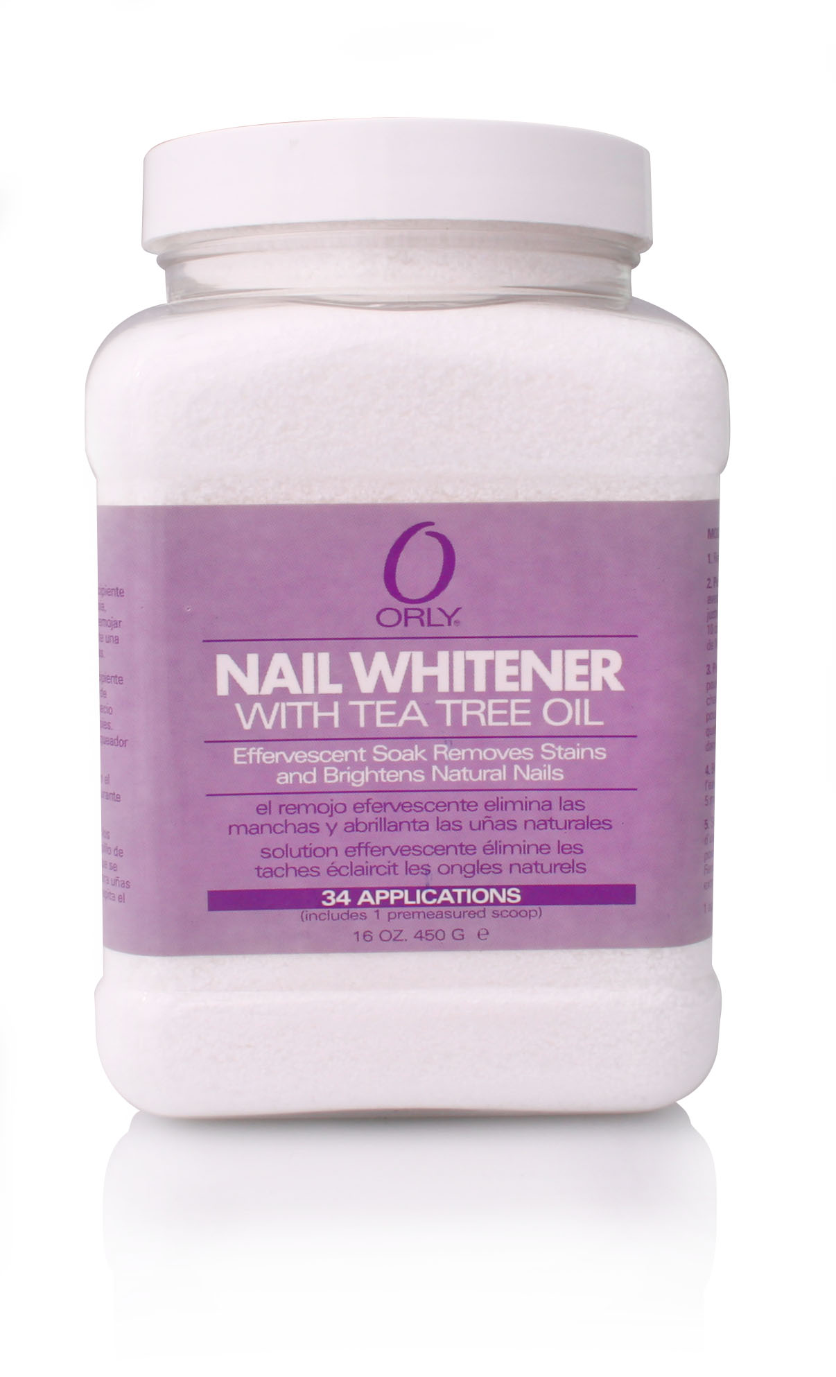 ORLY Отбеливатель с маслом чайного дерева для ногтей / Nail Whitener Jar 450 г
