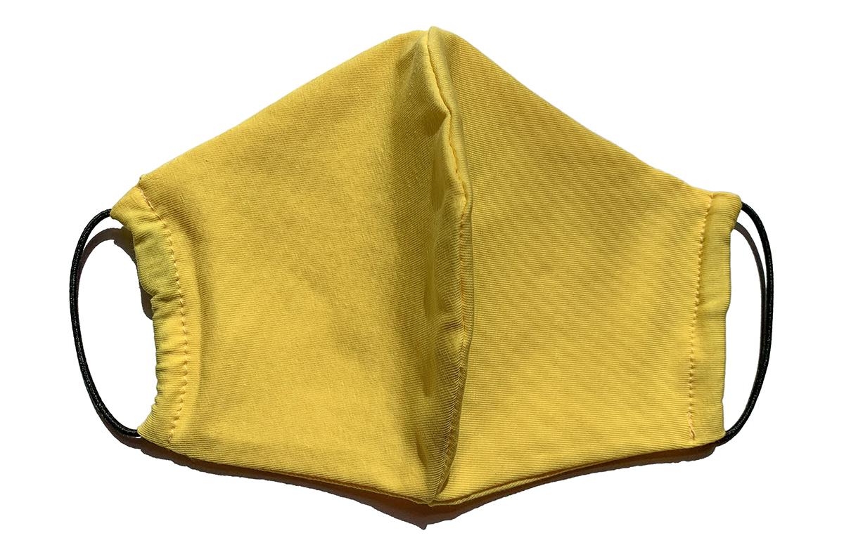 FACE GUARD Маска защитная многоразовая с карманом для фильтра, желтая 1 шт