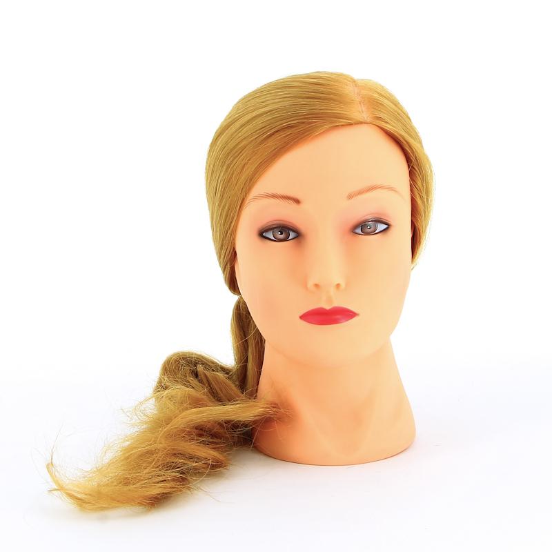 DEWAL PROFESSIONAL Голова учебная блондинка, протеиновые волосы 50-60см манекен с натуральными волосами