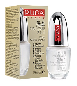 PUPA Основа для ногтей многофункциональная MULTI NAIL CARE 7 IN1, 5мл