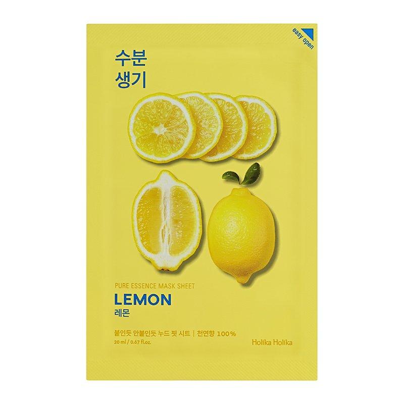 HOLIKA Маска тканевая тонизирующая Пьюр Эссенс, лимон / Pure Essence Mask Sheet Lemon 20 мл
