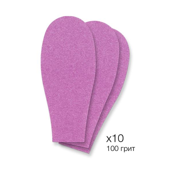 SOLOMEYA Рефиллы сменные для педикюрной пилки, маджента / Personal Gadget 100 Magenta Refill Pad 10 шт - Педикюрные инструменты