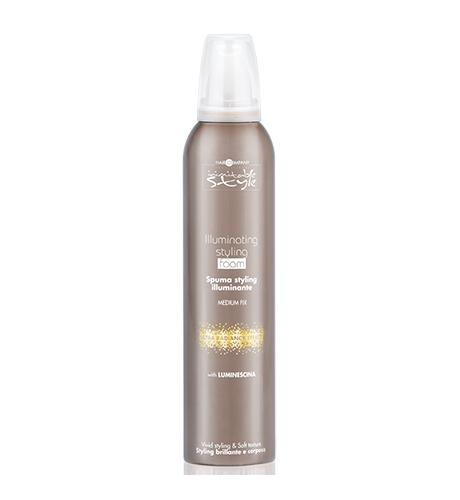 HAIR COMPANY Мусс придающий блеск (сверхсильная фиксация) / INIMITABLE STYLE Illuminating Extreme Styling Foam 250 мл