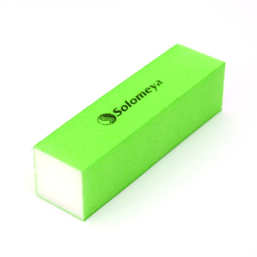 SOLOMEYA Блок-шлифовщик для ногтей зеленый / Green Sanding BlockПилки для ногтей<br>Блок-шлифовщик Solomeya предназначен для обработки искусственных ногтей, а также ногтей с тканевыми покрытиями. Прекрасно сглаживает все неровности, не повреждая кутикулу. Шлифовщик изготовлен из полиэтиленовой пены высокого качества, благодаря чему сохраняет свои свойства в течение длительного времени. Рекомендуется для профессионального и домашнего использования.<br>