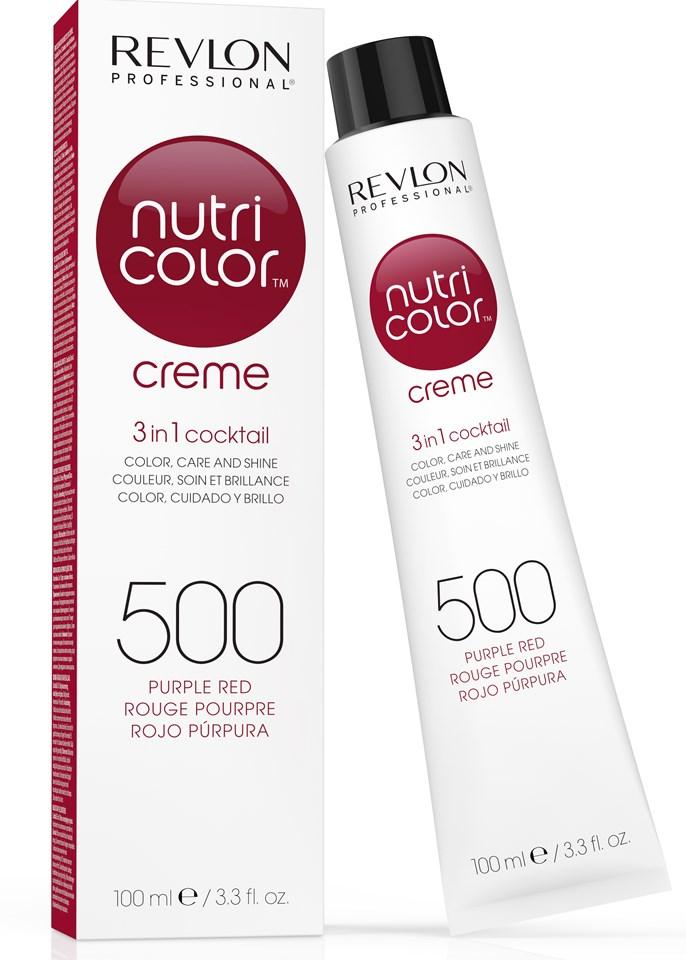 Купить REVLON Professional 500 краска 3 в 1 для волос, пурпурно-красный / NUTRI COLOR CREME 100 мл