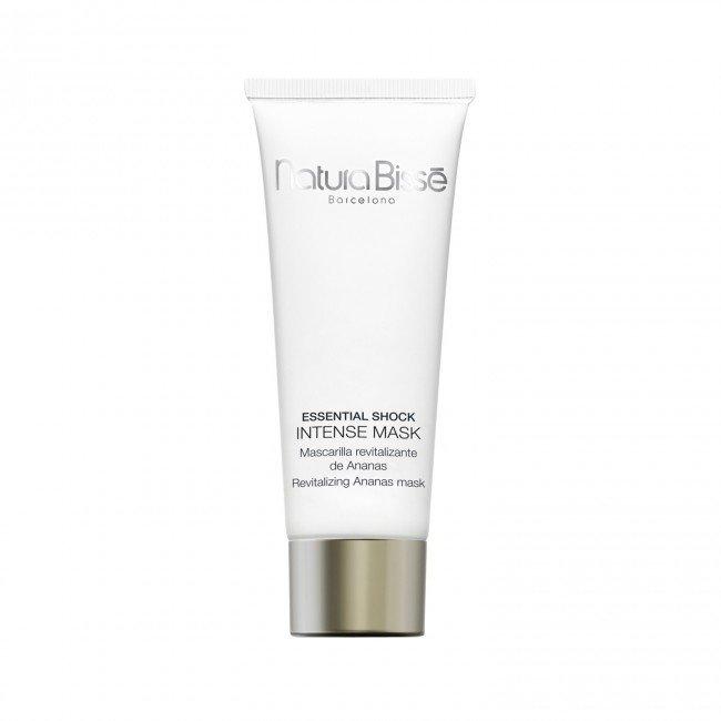 NATURA BISSE Маска интенсивно-воcстанавливающая с ананасом / Essential Shock Intense Mask 200млМаски<br>Увлажняющая маска красоты с ананасом восстанавливает эластичность и упругость кожи, увлажняет и защищает ее, подходит для зрелой, сухой и нормальной кожи. Маска способствует разглаживанию морщин и обеспечивает коже сияющий и здоровый внешний вид. Активные ингредиенты: деионизированная вода, экстракт ананаса, ланолин, гидролизованные белки сои, стеариновая кислота, аллантоин. Способ применения: наносить на предварительно очищенную кожу тонким слоем 1 раз в неделю. Через 20 минут удалить маску при помощи теплой воды и специальной губки Natura Bisse. Затем нанести Essential Shock Cream+ isoflavones (для сухой кожи) или Essential Shock Gel-Cream + isoflavones (для нормальной и жирной кожи). Результат: Увлажнение; Питание кожи; Защита кожи; Воссстановление упругости и разглаживание морщин; Регенерация кожи.<br><br>Объем: 200 мл<br>Назначение: Морщины
