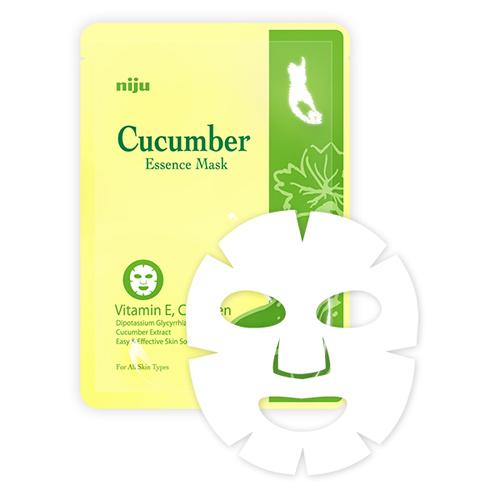 KONAD Маска огуречная / niju Cucumber Essence Mask 17млМаски<br>Огуречная маска для лица Konad - предотвращает шероховатость кожи, делает кожу лица упругой, мягкой и гладкой, а также защищает от стресса и раздражения. Защищает от вредного воздействия окружающий среды, благодаря содержанию в огурцах витамина E и хлорофилла. Огуречная маска для лица Konad отлично отбеливает кожу лица. Способ применения: щательно очистить и высушить лицо. Достаньте, разверните маску и нанесите ее на ваше лицо. Носить маску 15-20 минут и снимите медленно за край.<br><br>Объем: 17 мл