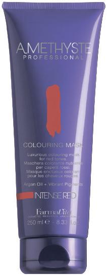 FARMAVITA Маска оттеночная red/ AMETHYSTE 250 млМаски<br>Red - проявит и сделает насыщенным красный цвет или только добавит оттенок Благодаря эксклюзивной формуле, способны поддерживать или кардинально изменять косметический цвет в течение нескольких минут. Обеспечивают волосы дополнительным интенсивным питанием, благодаря наличию в составе Арганового масла. После применения волосы обретают чрезвычайную мягкость и шелковистость. Amethyste Colouring mask идеально подходит для:   оживления и сохранения косметического цвета между посещениями салона красоты   используя маску на натуральные волосы, Вы получаете более глубокий оттенок и ювелирный блеск ПРЕИМУЩЕСТВА: 1.ДЕЛИКАТНОЕ ОТНОШЕНИЕ К ВОЛОСАМ: продукт не содержит аммиака и не смешивается с оксидантом; 2.СОХРАНЕНИЕ И УСИЛЕНИЕ КОСМЕТИЧЕСКОГО ЦВЕТА; 3.ЖИВЫЕ И БЛЕСТЯЩИЕ ВОЛОСЫ: спасибо аргановому маслу (состав которого богат Витамином Е, Омега-кислотами и натуральными Токоферолами) за ни с чем несравнимое увлажнение, омоложение и укрепление волос; 4.ОЧАРОВАТЕЛЬНЫЙ АРОМАТ: придает волосам изысканность, благодаря тонкому сочетанию ноток Жасмина и Китайского чая; 5.УДОБСТВО И ПРОСТОТА ИСПОЛЬЗОВАНИЯ Активные ингредиенты: система Omnia Color: Масло из семян пенника лугового - драгоценное масло, богато природными антиоксидантами и уникальным составом жирных кислот. Помогает сохранить интенсивность цвета и блеск волос. Исследования показали, что масло проникает в волокна волос, восстанавливая структуру и повышая его прочность. Пантенол - глубоко проникает в структуру и позволяет сбалансировать естественный уровень влаги в волосах. УФ-фильтр - защищает волосы от выгорания на солнце, вымывания красителя и потускнения цвета. Олигоминеральный комплекс - комплекс олигоэлементов (кремний, магний, медь, железо, цинк), которые глубоко проникают в волокна волос и помогают восстановить поврежденные участки. Способ применения: нанесите на волосы после применения шампуня или обычной питательной маски. Время выдержки от 5 до 15 минут в зав