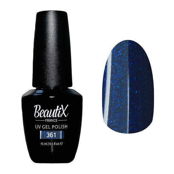 Купить BEAUTIX 361 гель-лак для ногтей 15 мл, Синие