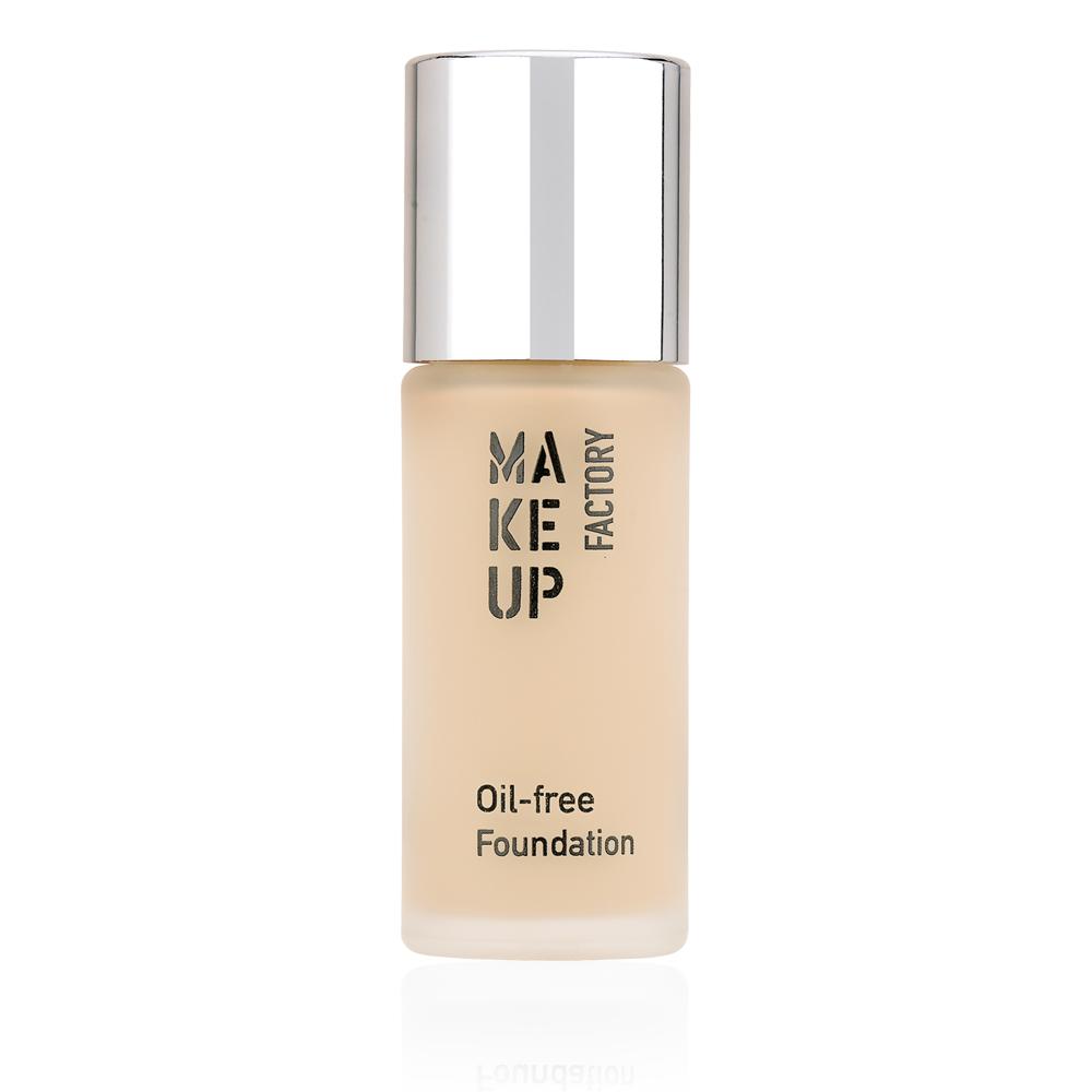 MAKE UP FACTORY Крем тональный матовый для нормальной и жирной кожи, 02 атласная кожа / Oil-free Foundation