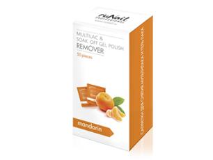 RuNail Салфетки для снятия мультилака и гель-лака (мандарин), 50 шт