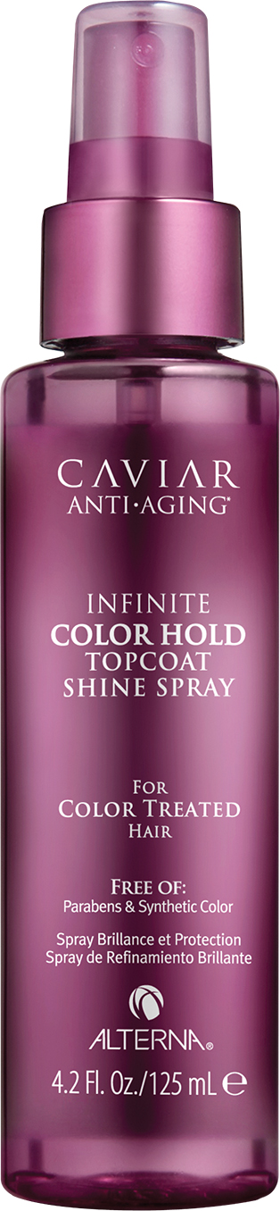 "ALTERNA Спрей для придания блеска / Caviar Anti-Aging Infinite Color Hold Topcoat Shine Spray 125 мл alterna спрей ""абсолютная термозащита"" caviar anti aging perfect iron spray 122ml"