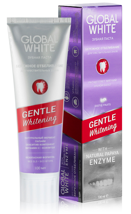 Купить GLOBAL WHITE Паста зубная бережное отбеливание / Gentle whitening 100 мл