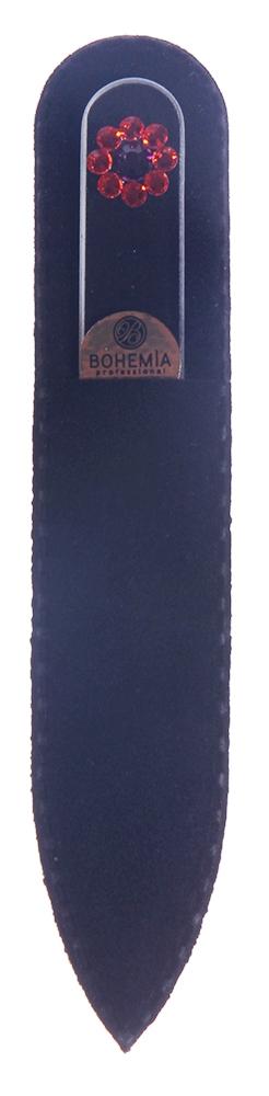 BOHEMIA PROFESSIONAL Пилочка стеклянная прозрачная с 9 кристаллами 90ммПилки для ногтей<br>Нет ничего лучше для натуральных ногтей, чем пилка из богемского хрусталя. Данный материал имеет практически неограниченный срок использования. Пилки Bohemia Professional имеют наиболее стойкий абразив. Пилка из богемского хрусталя также может стать стильным аксессуаром или красивым подарком. Bohemia Professional представляет Вам огромный выбор прозрачных и цветных пилок с декором: ручная роспись, декорация стразами, пилки с логотипом, и полноцветные изображения. Инструмент можно стерилизовать и обрабатывать химическими дезинфекторами, антисептиками.<br>